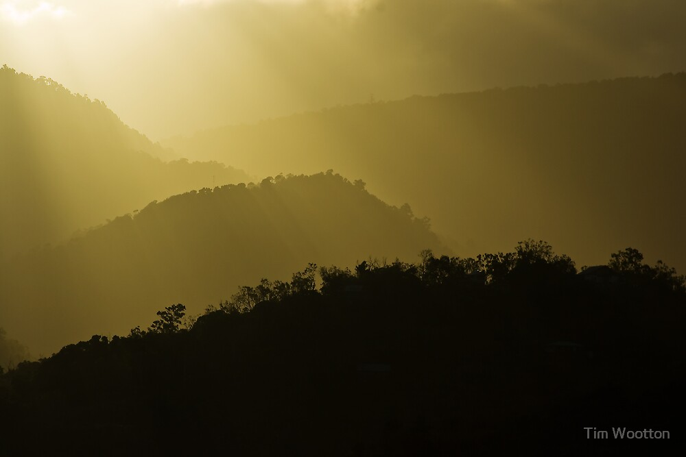 Sunset over Cannonvalley by Tim Wootton