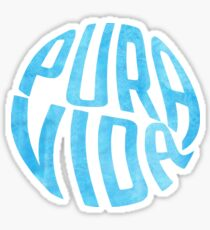 Pura Vida Blue Watercolor Sticker