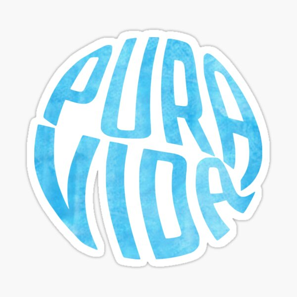 Pura Vida Blue Watercolor Sticker