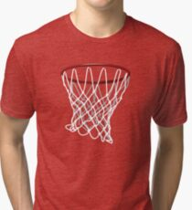 Basketball Hoop Net Tri-blend T-Shirt