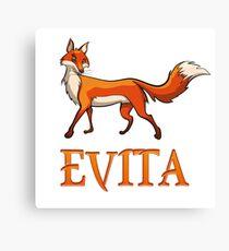 Evita Fox Canvas Print
