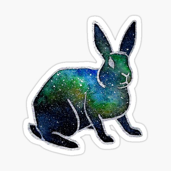 Nebula Watercolor Bunny Rabbit Sticker