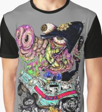 70s style cartoon Cops n Robbers. Graphic T-Shirt