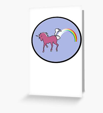 Rainbow Farting Unicorn Greeting Card