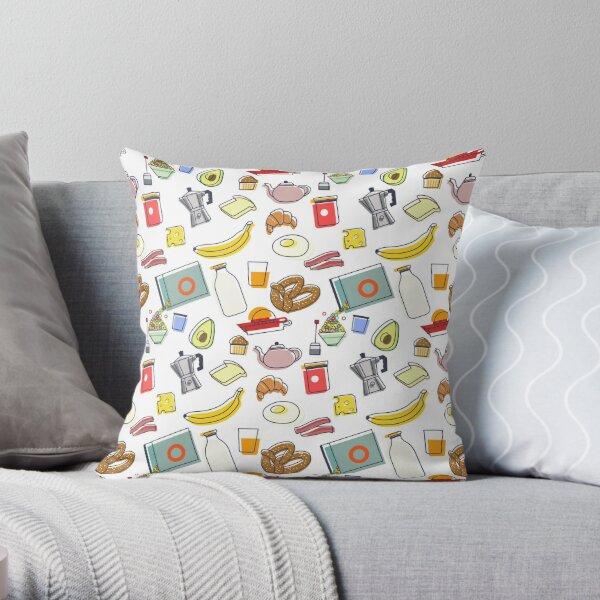 ICONIC BREAKFAST Throw Pillow
