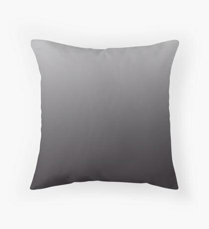 Intense Black Onyx ombre Throw Pillow