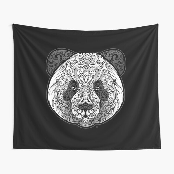 Ornate Panda Tapestry