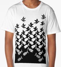 Fish and Birds Art Deco Tessellation Long T-Shirt