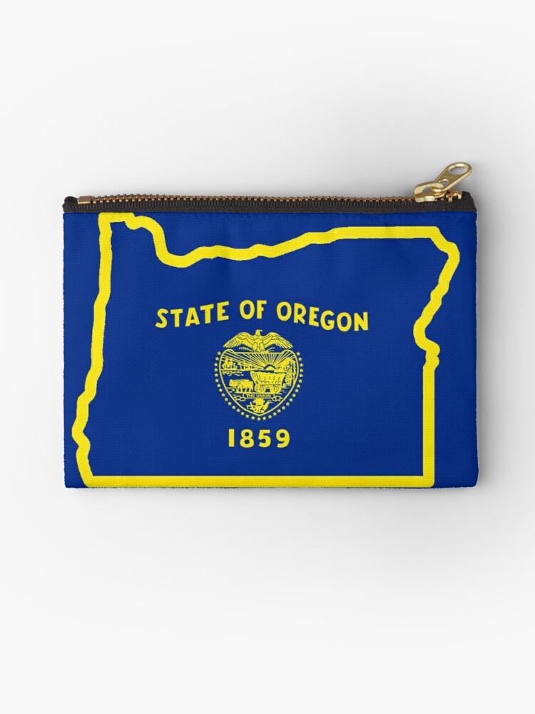 Oregon State Map Shape and Flag Design Tie Tack