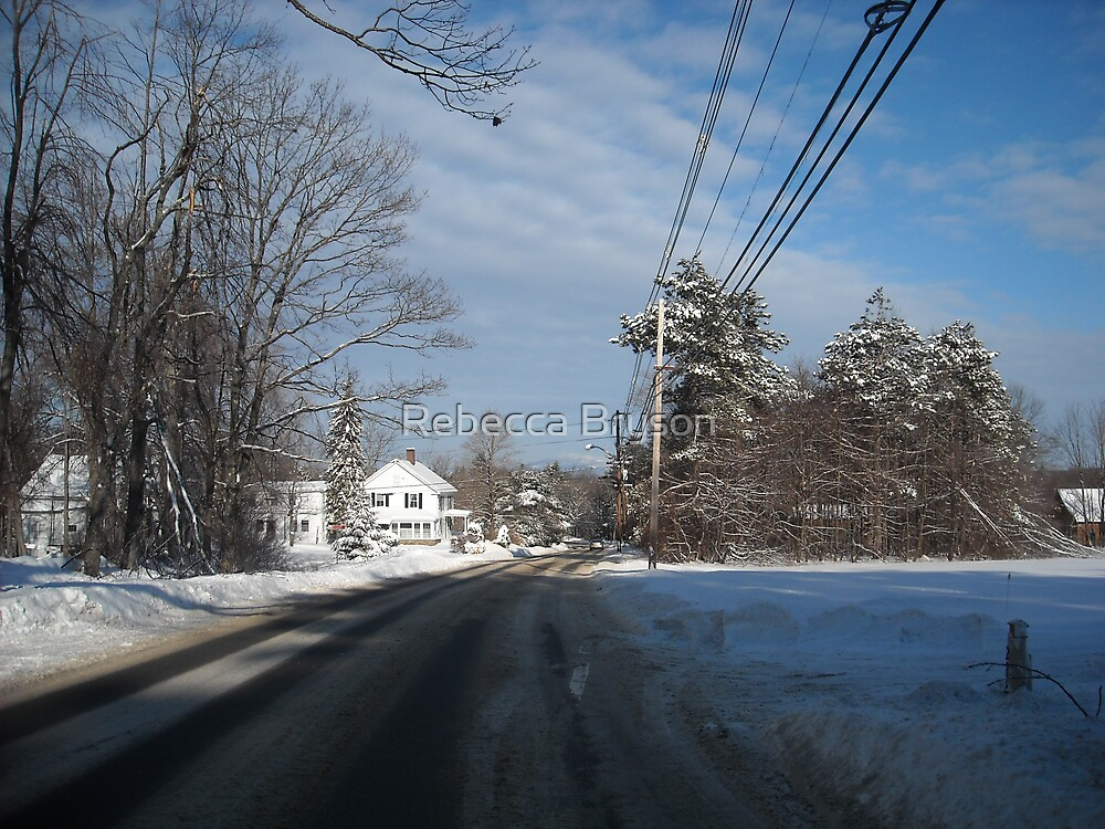 Baldwinville Rd Early Morning After the Snowfall by Rebecca Bryson