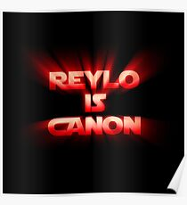 Reylo is Canon - Red Poster