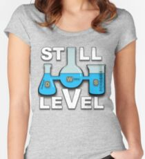 Still Level Blue Liquid Beakers Women's Fitted Scoop T-Shirt