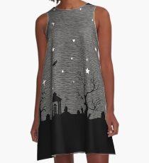 Spoopy Cemetery A-Line Dress
