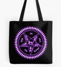 Tetragrammaton Sigil Hellschwarz Tote Bag