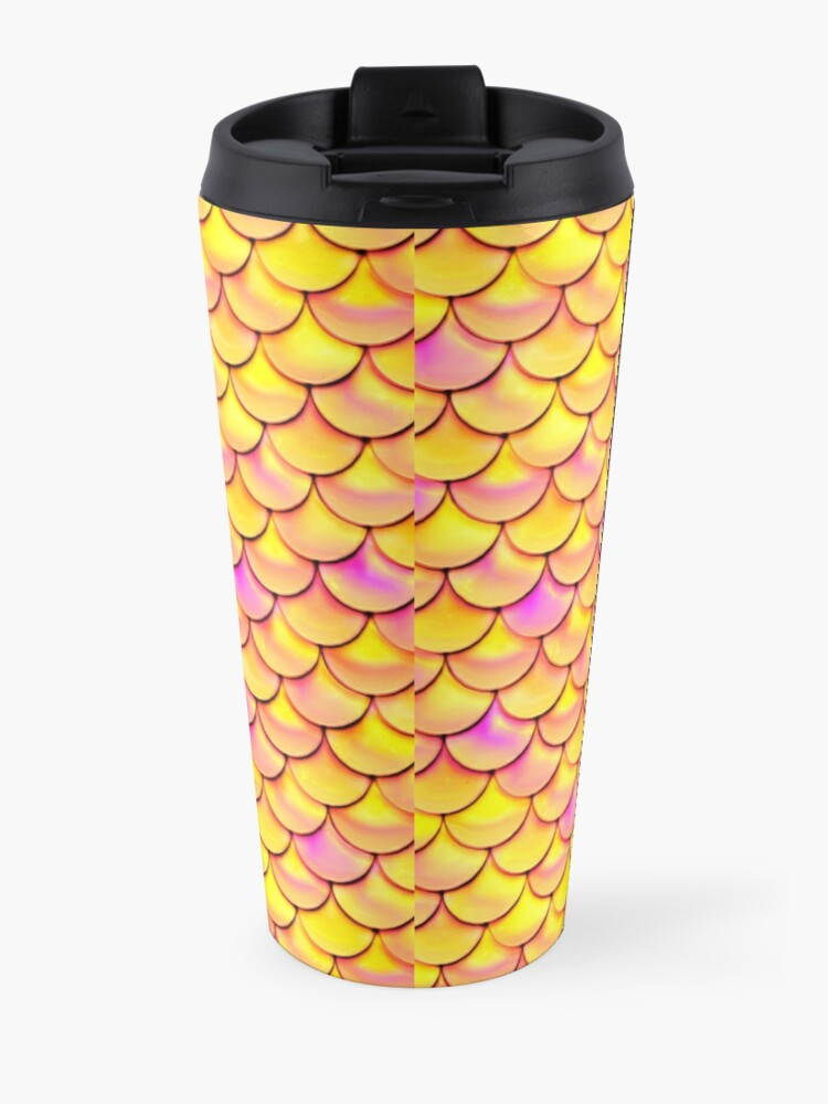 Alternate view of Yellow Pink Scales Travel Mug