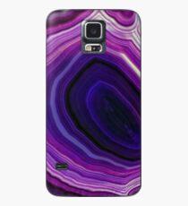 Gewirbelter lila Geode Hülle & Klebefolie für Samsung Galaxy