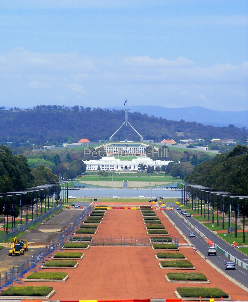 Parliament house canberra by Peta Hurley-Hill