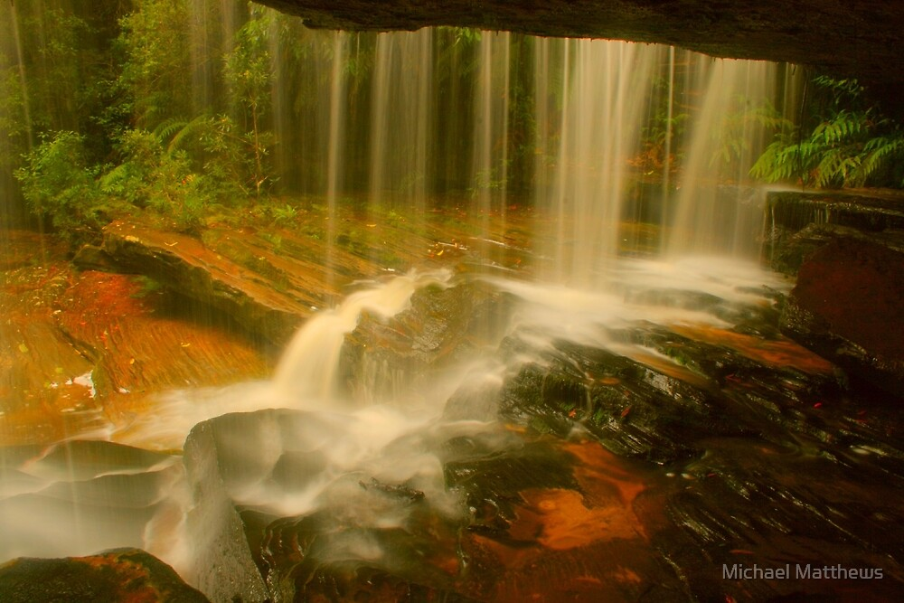 Behind The Curtain .. Lower Somersby Falls by Michael Matthews
