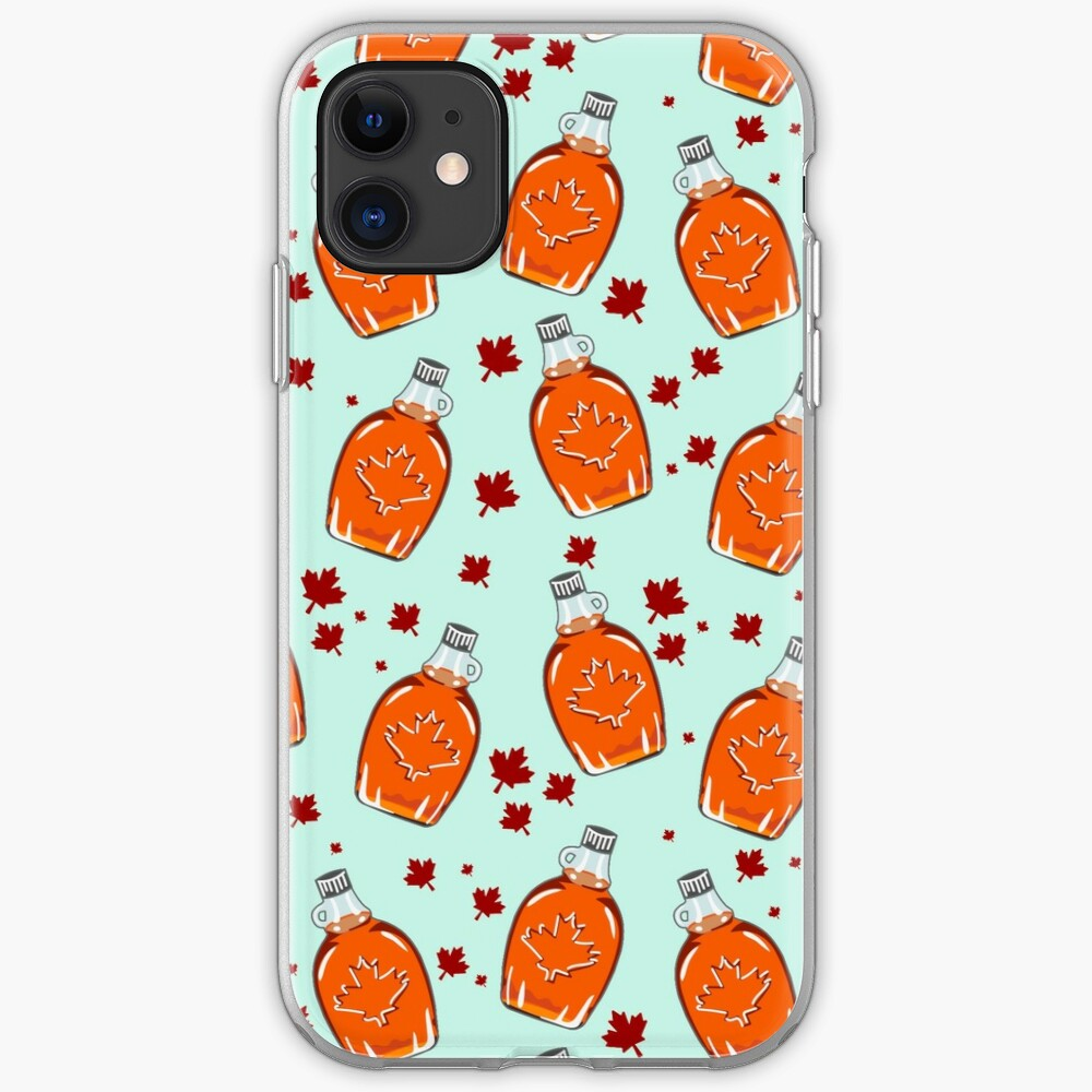 Super Canadian Maple Syrup Pattern iPhone Soft Case