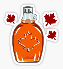 Super Canadian Maple Syrup Pattern Sticker
