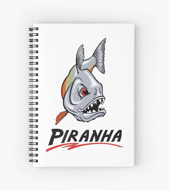 Cuadernos de espiral «Scary Piraña de dibujos animados» de ...