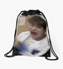 Seventeen Woozi screaming meme Drawstring Bag
