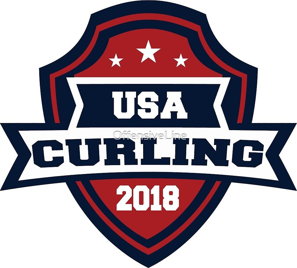 Usa curling logo