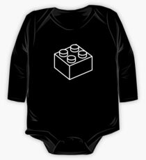 2x2 Legoblock Black pattern One Piece - Long Sleeve