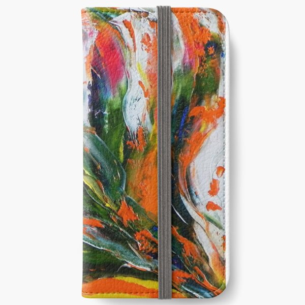 Multicolore Étui portefeuille iPhone