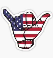 Hang Loose American Flag Sticker
