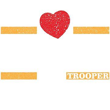 Irish State Trooper First Responder Valentine's Day TShirt  by bucksworthy