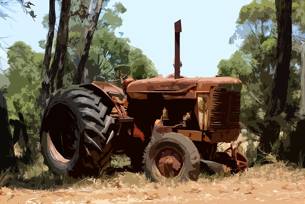 rusty tractor by peteroxcliffe