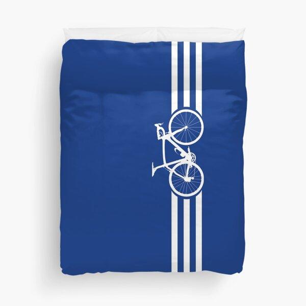 Bike Stripes White x 3 Duvet Cover