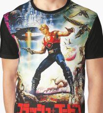 Camiseta gráfica Flash Gordon japonés