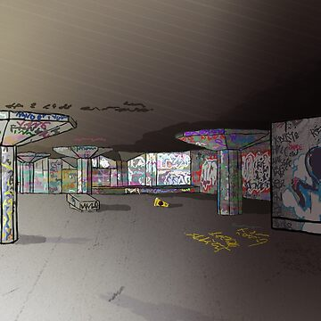 South Bank Skate Area by delilahdesanges