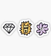 diamonds lions and violets oh my Sticker