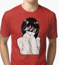 LOVE(Japanese) - Sad Japanese Aesthetic Tri-blend T-Shirt