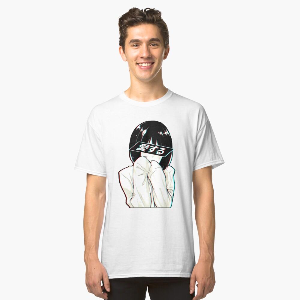 AMOR (Japonés) - Sad Japanese Aesthetic Camiseta clásica