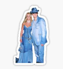 Britney Spears and Justin Timberlake Denim Sticker