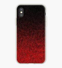 Red & Black Glitter Gradient iPhone Case