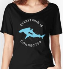 Everything is Connected Shirt Cat Shark Women's Relaxed Fit T-Shirt