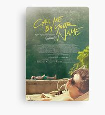 Call Me By Your Name Movie Poster Metal Print