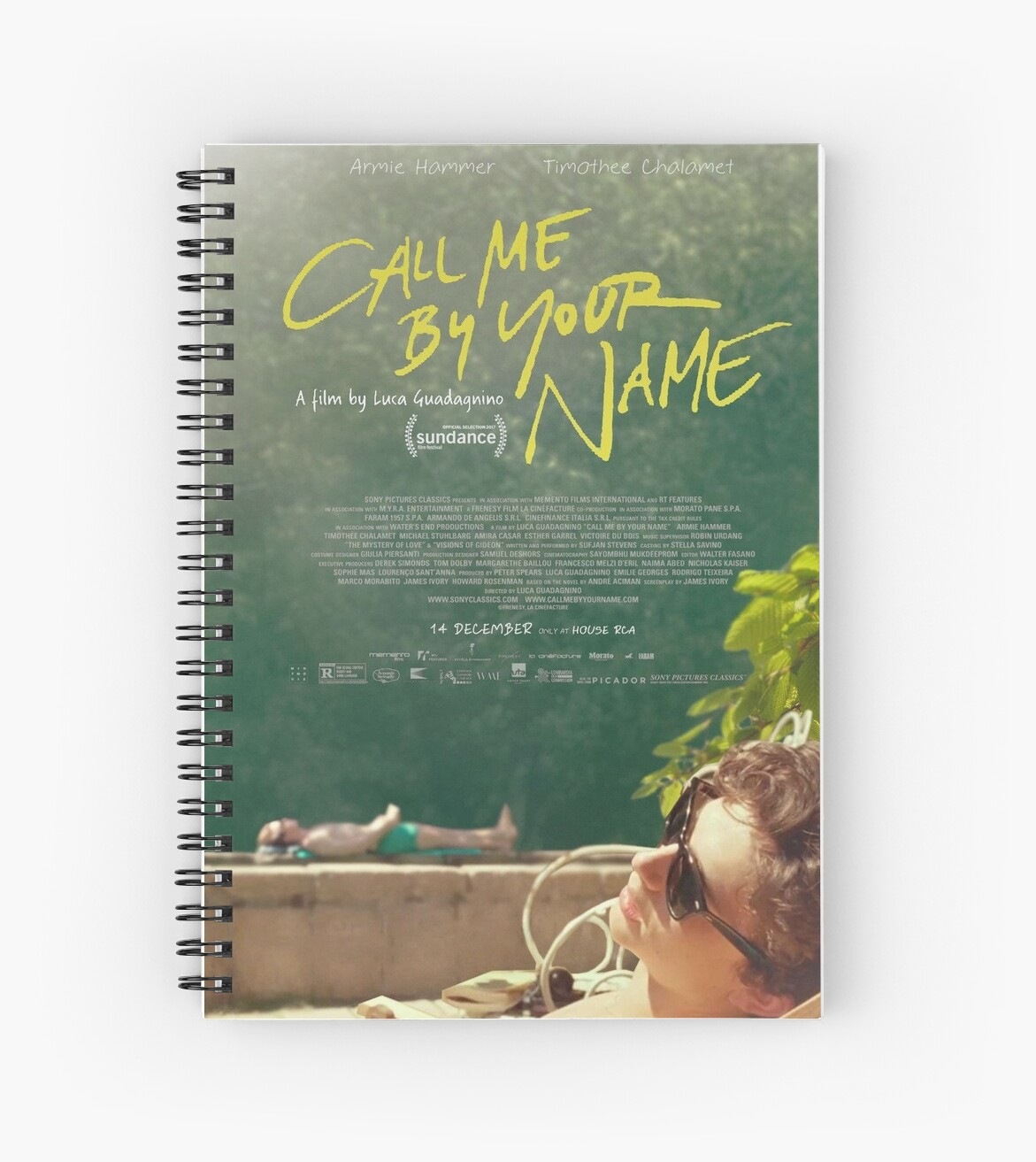 Call Me By Your Name Movie Poster Spiral Notebooks By Robertboy