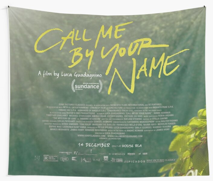 Telas decorativas «Cartel de película Call Me By Your Name» de ...