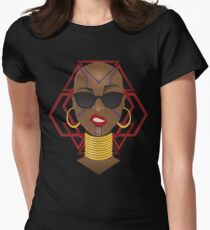 Dora Milaje: Move,or You Will Be Moved (version 1) Women's Fitted T-Shirt