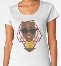 Dora Milaje: Move,or You Will Be Moved (version 1) Women's Premium T-Shirt