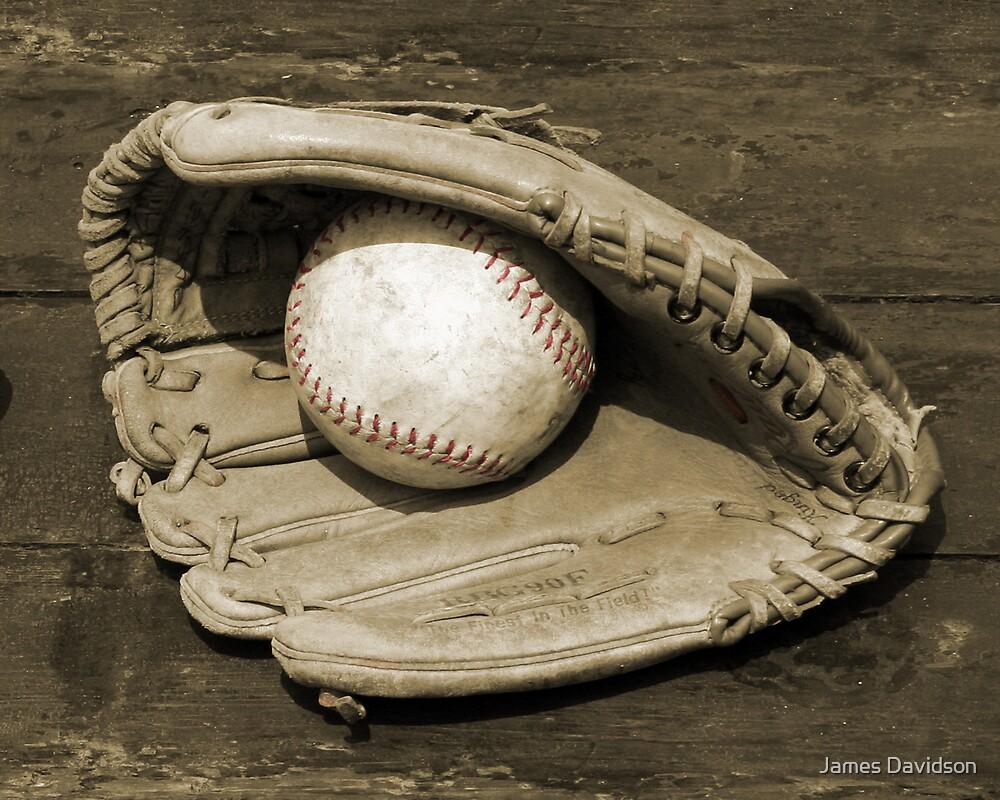 Ball & Glove w/ Red Stitching by James Davidson