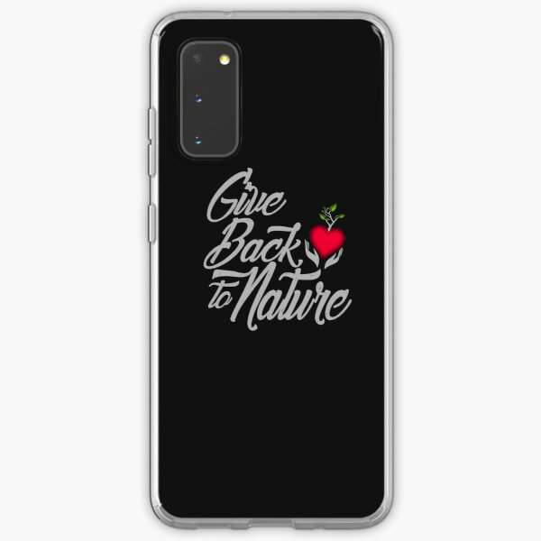 Give Back To Nature Slogan - Black Background Samsung Galaxy Soft Case