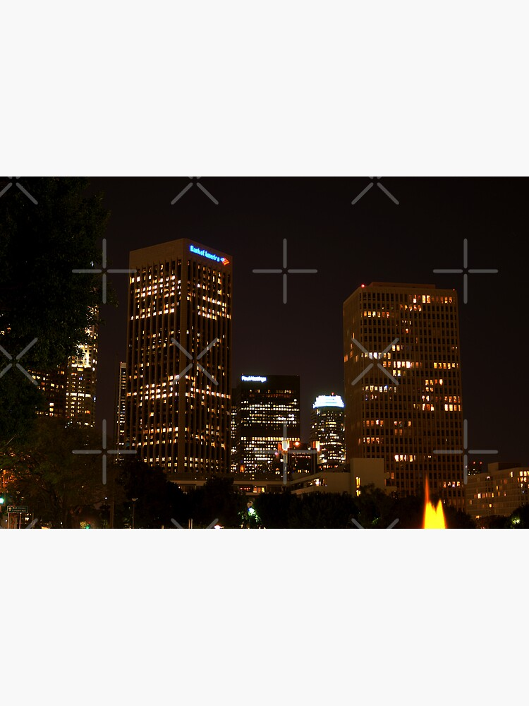 Downtown Los Angeles At Night HDR by claytonbruster