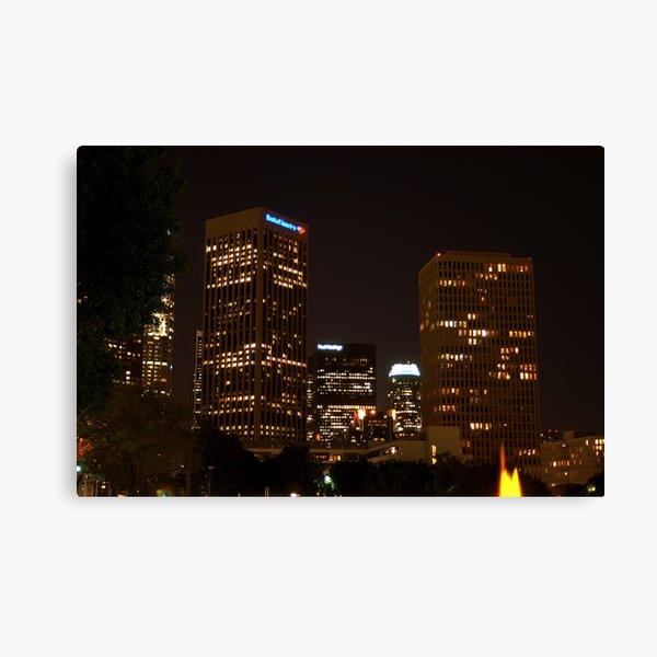 Downtown Los Angeles At Night HDR Canvas Print